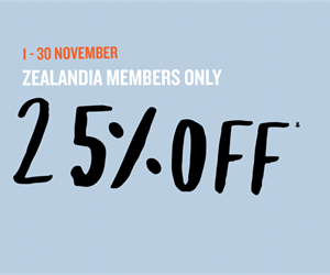 ZEALANDIA Members - 25% off at our store*!