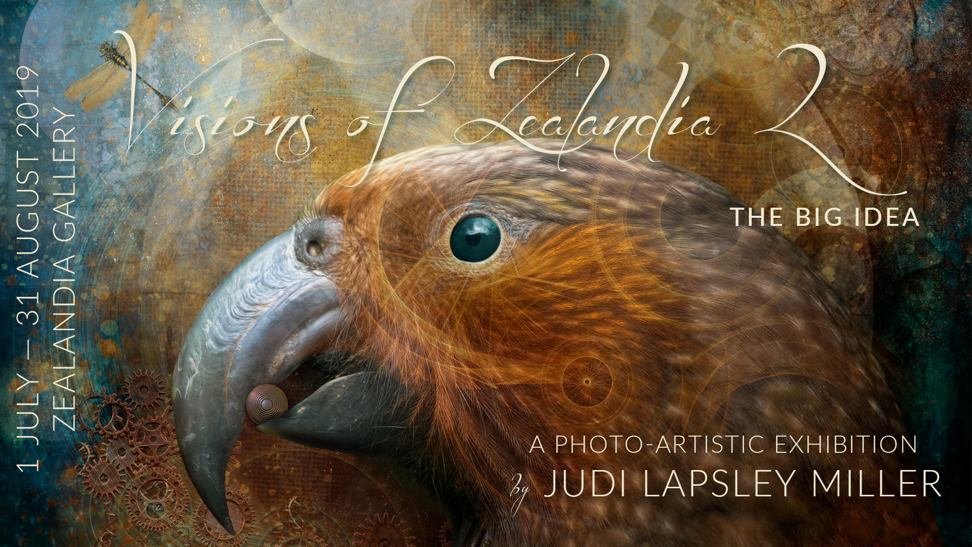 Visions of Zealandia 2: the big idea by Judi Lapsley Miller - 1 Jul - 31 Aug 2019 - banner