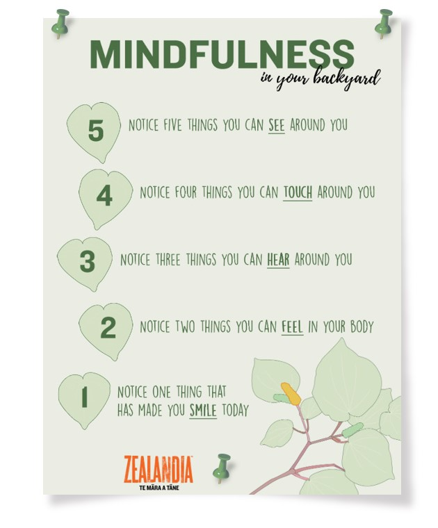 Mindfulness in your backyard poster
