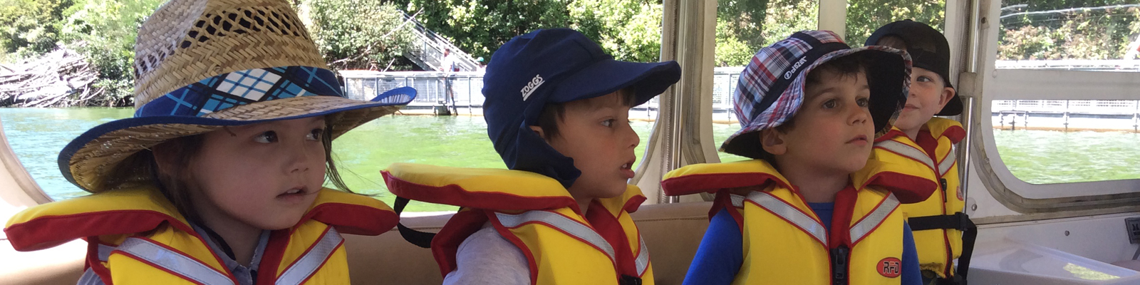 Kids on the ZEALANDIA boat